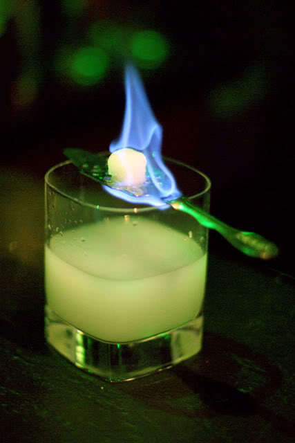 absinthe, alcohol, booze, fire, flame