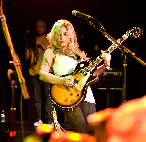 allison robertson, chelsea girls, gibson les paul, guitar, hollywood