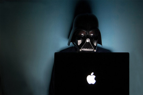 apple, black, darth vader, macbook