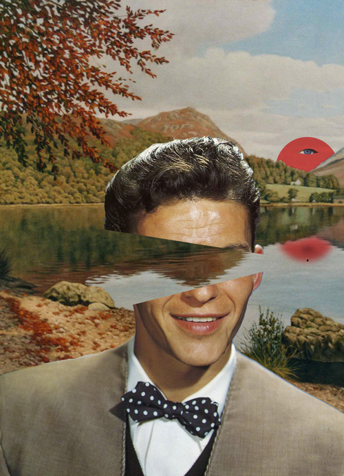 art, collage, frank sinatra, funny, human, nature, weird