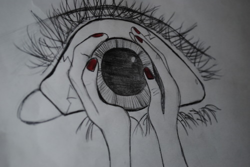 art, creepy, eye, photography, picture