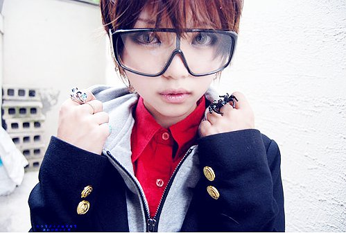 asian, cute, fashion, goggles, kawaii, spider