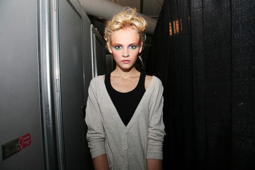 backstage, blond, ginta lapina, make up, model, pretty
