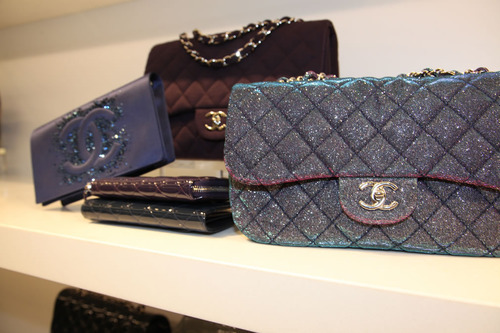 bag, black, blue, chanel, handbag
