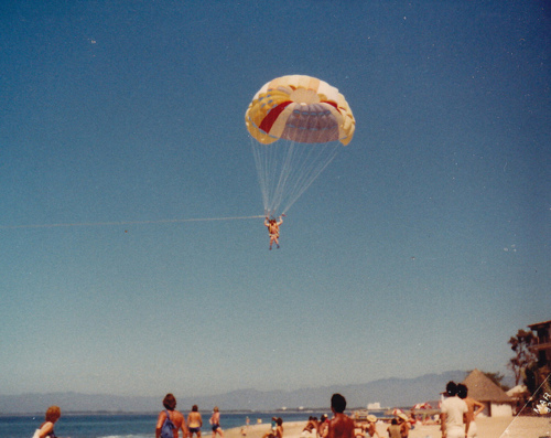 beach, happy, parachute, people, summer