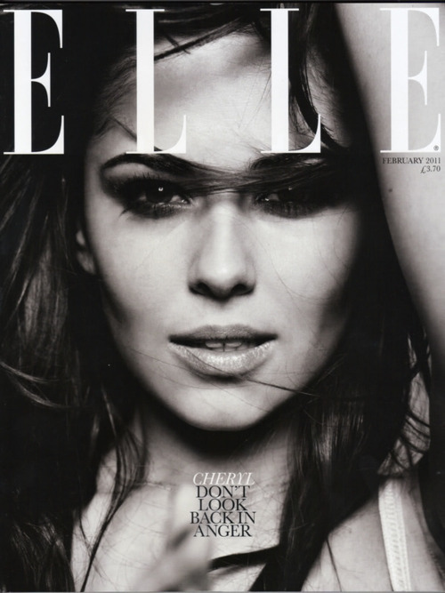 black and white, celebs, cheryl cole, elle, fashion