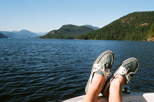 boat, boy, lake, legs, shoes
