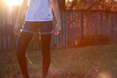 bokeh, fashion, fence, girl, sunlight