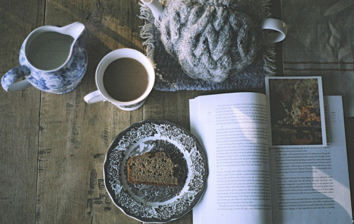 book, bread, breakfast, coffee, cosy