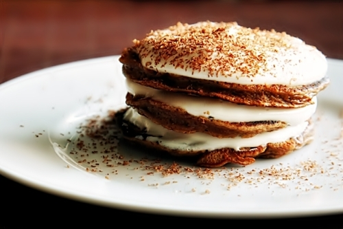 breakfast, dessert, food, pancake, tiramisu