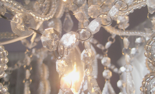 chandelier, crystal, pretty