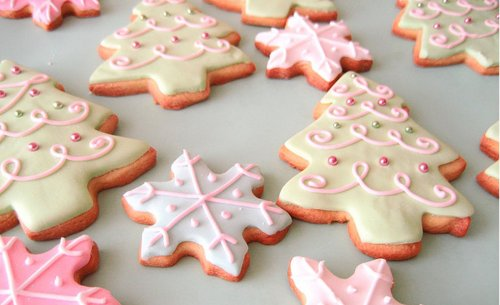 christmas, cookies, delicious, food, glaze, pretty
