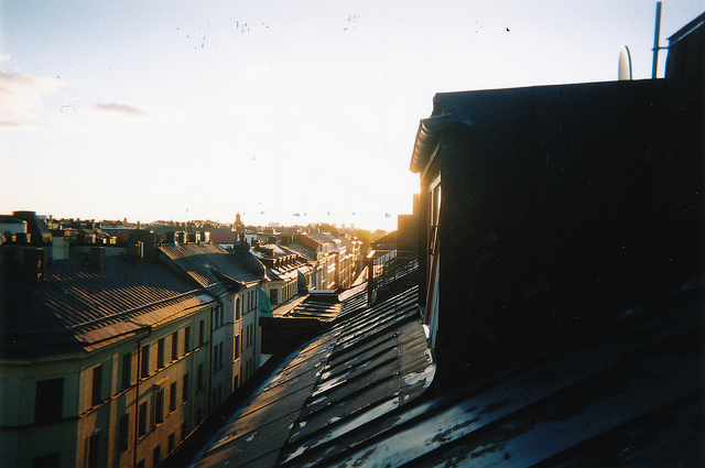 city, roof, stockholm, sweden