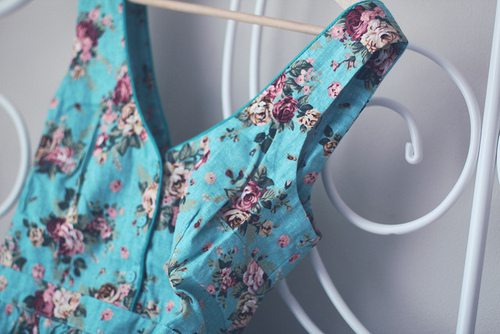 classic, clothe, dress, flower, vintage