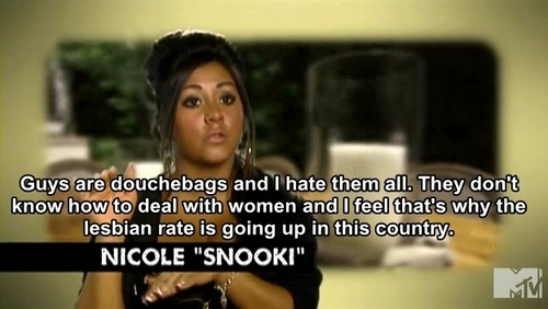douchebags, guys, lesbian, rate, snooki