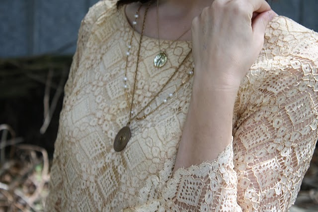 dress, fashion, lace, necklaces, vintage