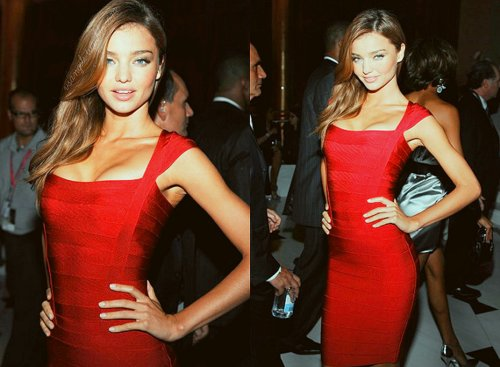 fashion, girl, miranda kerr, model, red, victorias secret