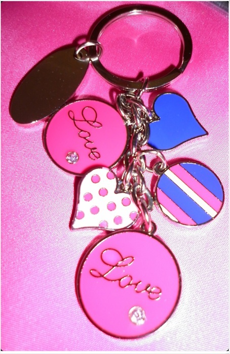 fashion, heart, keyching, love, pink