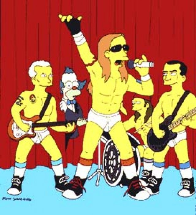 red hot chili peppers, rhcp, simpsons